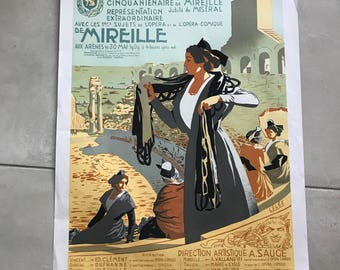 Vintage French Poster for Arles Theatre 17011814