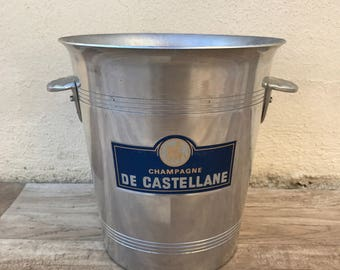 Vintage French Champagne French Ice Bucket Cooler Made France CASTELLANE 2601188