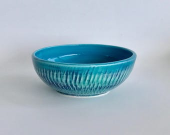 Handmade Blue and Green Clay Bowl