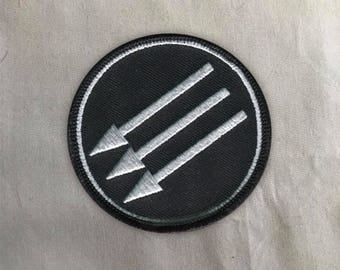 Iron Front Patch | Sew on | Embroidery | Patches for Jackets | Antifa Patch | Tumblr Patch | Anarchist Patch | Equality Patch | Cute Patch