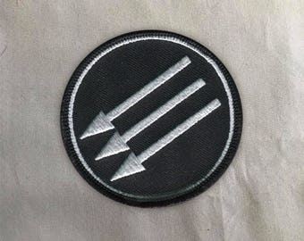 Iron Front Patch | Sew on | Embroidery | Patches for Jackets | Antifa Patch