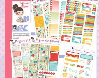 E Planner -- School Time Weekly Stickers -- Pick What you Need or Pick it all -- #11