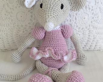 Imi the Crochet Ballerina mouse