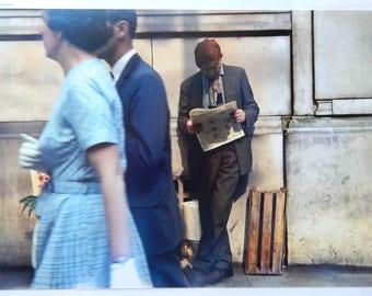 London Street (1950s) 8x12 Kodachrome Print