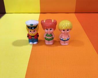 Vintage Kenner Tree Tots Light House Figures 1977 Toys Captain Boy Girl