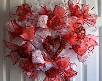 Valentine Wreath, Holiday, Love, Heart Wreath, Hearts