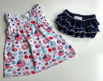 Little Miss Independent 4th of July Patriotic Independence Day dress