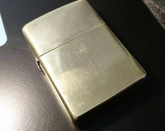 A fab vintage 1980's highly collectable Zippo, commemorative edition solid brass lighter
