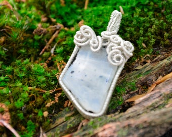 Selene~Rainbow Moonstone Amulet for Connecting with your Inner Goddess