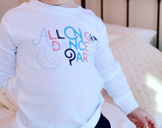 All Night Dance Party  /// Baby + Toddler Pajama Set