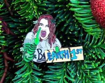Earth First   Batman Pin   Poison Ivy pin   Inconvenient Truth   Feminist Pin   Joker Harley Quinn   Woke Girl   soft enamel pin   Bernie