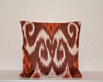 Handwoven Ikat cushion