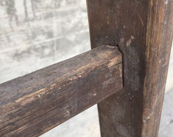 Antique solid wood staircase-Very old chair wood hand made in Italy