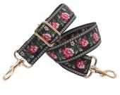 Taschengurt Schultergurt Bunt mit Blumen Muster Verstellbar 60-120 cm für Tasche