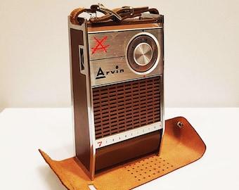 1961 Arvin 61R48 Portable 7 Transistor AM Radio, For Restoration or Decor