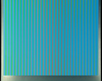 "Op Art. ""Serie A-5"", 1981. Serigraph by Guenter SCHAREIN"
