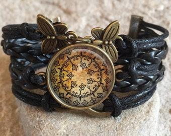 Yoga Jewelry Bracelet, Yoga Bracelet,yoga gift,yoga mandala,mandala jewelry,mandala bracelet,spiritual jewelry,gifts for her, yoga gift yo4
