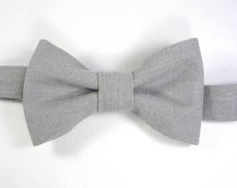 Grey Linen bow tie toddler boy bowtie boys bow tie boys linen bowtie newborn bowtie bowties boys boys bowties baby bowties toddler bow tie