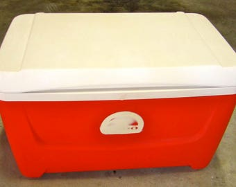 Sanded and Primed Cooler with the Logo Filled