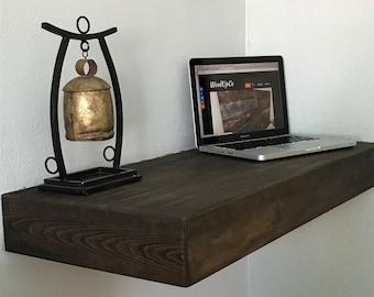 Floating desk, desk, solid wood floating desk, writing desk, computer stand