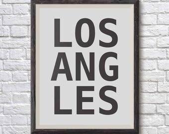 Los Angeles poster - Large wall art - Los Angeles print -  Los Angeles wall art - Los Angeles printable - Los Angeles typography - LA print