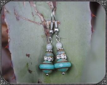 Earrings turquoise - silver