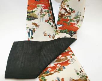 Silk Scarf - Vintage Japanese  Kimono Silk