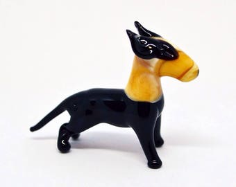 Glass bull terrier Dog, bull terrier Gifts bull terrier, bull terrier accessories art, christmas bull terrier ornaments Figurines