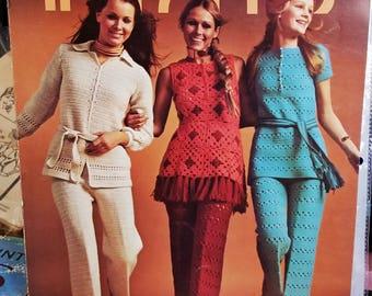 1971 Columbia Minerva In Pants Crochet Pattern Leaflet Not a PDF