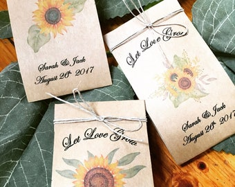 Herb seed favors 25 Wedding Seed Favors Wedding Favors