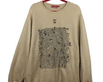 Rare!! Supreme Big L Ebonics sweatshirt XL Size