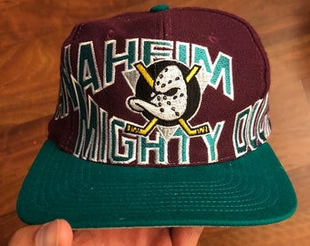 2d8421e1da2fc ... hat sports fan baseball caps sports outdoors 62df2 ba6ea  coupon code  for vintage apex anaheim mighty ducks snapback 9854a 99cc0