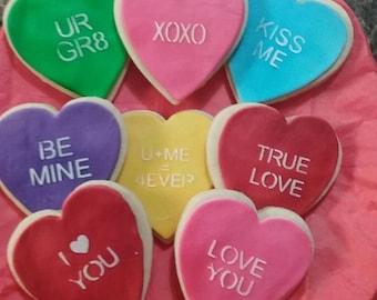 Valentine Message Sugar Cookies