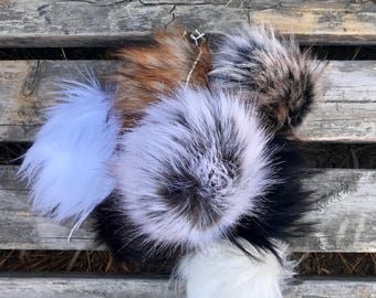 Mixed Dozen Faux Fur Pom Pom