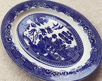 Willow Pattern Platter Plate