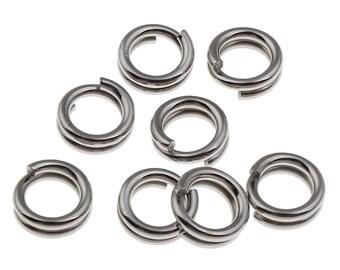 100 x 6mm Stainless Steel Split Rings