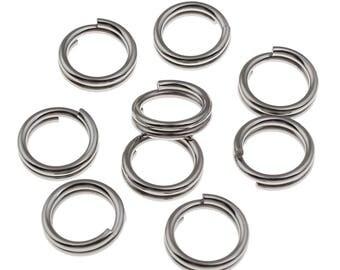 100 x 8mm Stainless Steel Split Rings