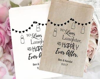 Wedding treat bag | wedding favor bag | Wedding candy bag | Kraft favor bags | Wedding popcorn bags | Personalized wedding bag | Ever After