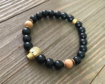 Golden Skull (Men's bracelet)