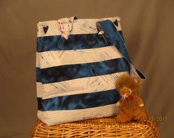 Strappy Shoulder Bag - Medium (Library Memories)