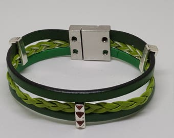 """""""GREEN"""" leather strap"""