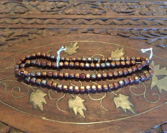Copper colored beads