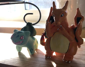 Pokémon clay sculptures hand made, made to order