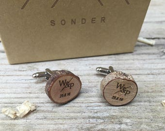 S O N D E R. Custom Cufflinks Wedding cufflinks Wooden Cufflinks Groom Gift Personalized Cufflinks Mens Cufflinks Personalised Cufflinks
