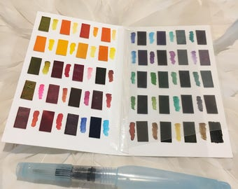 PEERLESS WATERCOLOR Palette - Set 40 - POCKET (3.5 X 5.5 inch/9cm X 14cm) for your Travelers Notebook, Foxy Fix, Chic Sparrow or Art Journal