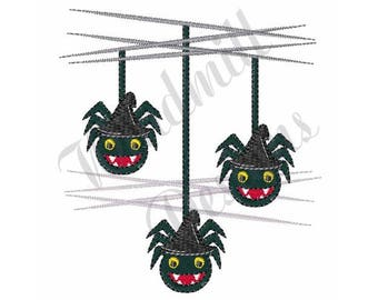 Itsy Bitsy Spider - Machine Embroidery Design