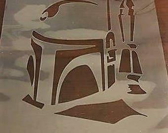 Large Star Wars Boba Fett Stencil handcut