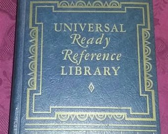 Vintage Atlas, Dictionary. 1947 Universal Ready Reference Library. 1947 Handbook of Necessary Information.