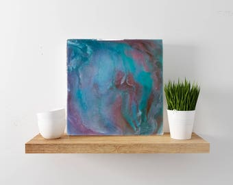 "12x12 Abstract Resin Painting--""Leisure"""