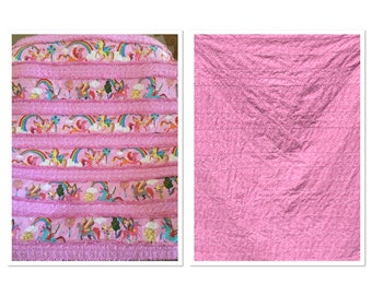 New ***UNICORN baby/toddler rag quilt. Approx. 38X48 FREE SHIPPING